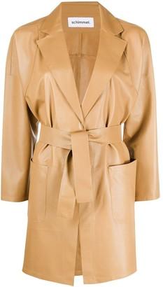 Sylvie Schimmel Belted Leather Jacket