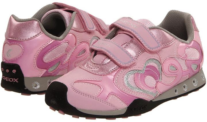 Geox Kids - Jr New Jocker Girl FW11 (Youth) (Pink/Dark Pink) - Footwear
