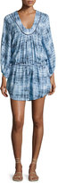 Vix Rustic Lara Swim Coverup Caftan Dress, Blue