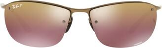 Ray-Ban Rectangular Mirrored Lense Sunglasses