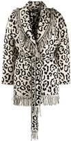 Alanui geometric pattern knitted coat