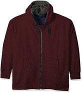Nautica Men's Big and Tall Sherpa Lined Zip-Front Hoodie