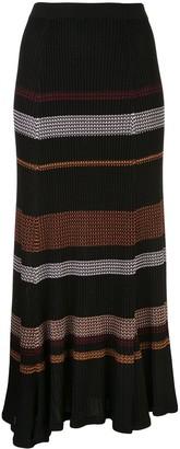 Proenza Schouler Zig Zag Stripe Knitted Skirt