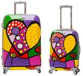 Rockland 2pc Polycarbonate/ABS Upright Luggage Set - Heart