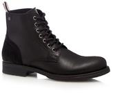 Jack & Jones Black 'sting' Leather Boots