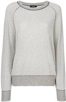 Theory striped ribbed sweatshirt - women - Polyamide/Rayon - XS