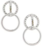 Judith Jack Women's Silver Sparkle Double Drop Earrings