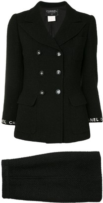 Chanel Pre Owned 1995 CC buttons skirt suit