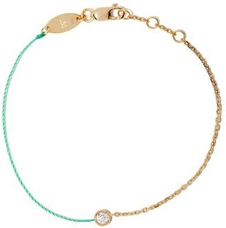 Redline 18kt yellow gold Pure diamond and string bracelet