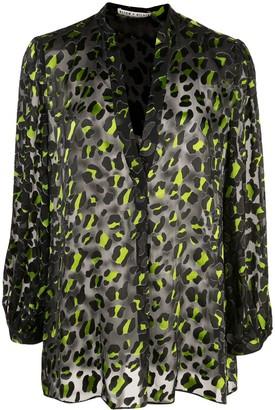 Alice + Olivia Alice+Olivia leopard print sheer blouse