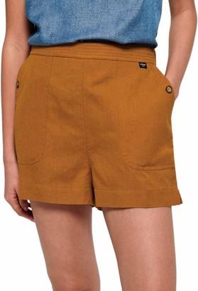 Superdry Mila Culotte Shorts Ochre Yellow - UK 14