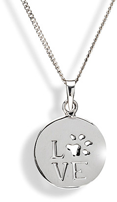 Micalla Jewelry MICALLA Jewelry Women's Necklaces Silver - Sterling Silver 'Love' Paw Print Pendant Necklace