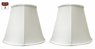 """Darby Home Co Deep Silk/Shantung Empire Lamp Shade Color: White, Size: 11"""" H x 14"""" W x 8"""" D"""