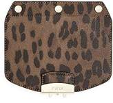 Furla MY PLAY Interchangeable Metropolis Mini Leather Leopard Print Flap