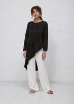 Zero Maria Cornejo Black Jacquard Long Sleeve Heli Tunic