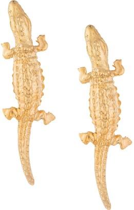 Natia X Lako Long Lizard Earrings