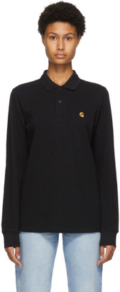 Carhartt Work In Progress Black Chase Long Sleeve Polo
