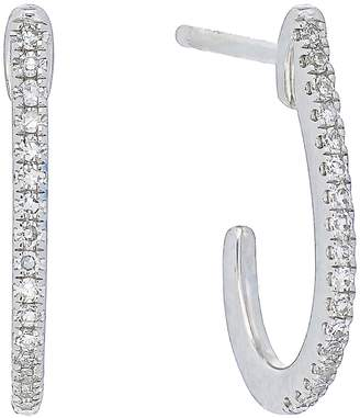 Carriere Sterling Silver J-Shape Diamond Earrings - 0.12 ctw