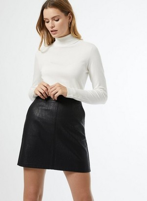 Dorothy Perkins Womens Black Pu Mini Skirt, Black