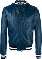 Dolce & Gabbana leather hooded jacket - men - Lamb Skin/Polyamide/Acetate/Triacetate - 52
