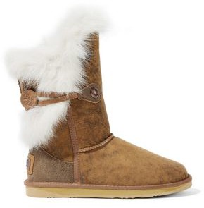 Australia Luxe Collective Nordic Angel Burnished Shearling Boots