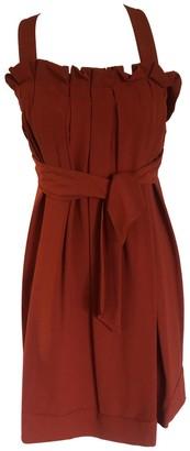 Tie Short Dress Brown - Carol