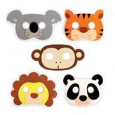 Kikkerland Jungle face masks - set of 5
