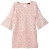 My Michelle mymichelle Crocheted Bell Sleeve Dress (Big Girls)