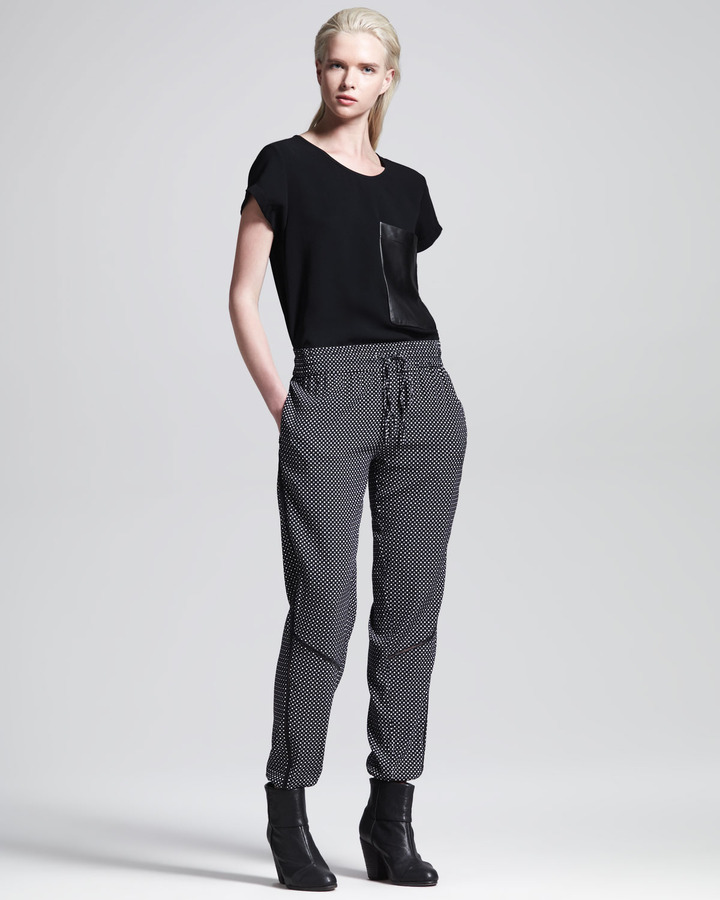 Rag and Bone Rag & Bone Gina Printed Drawstring Pants