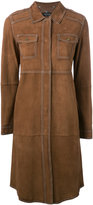 Twin-Set mid-length suede coat - women - Goat Skin - 40