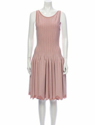 Alaia Striped Knee-Length Dress Pink