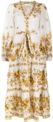 Zimmermann Amelie tiered midi dress