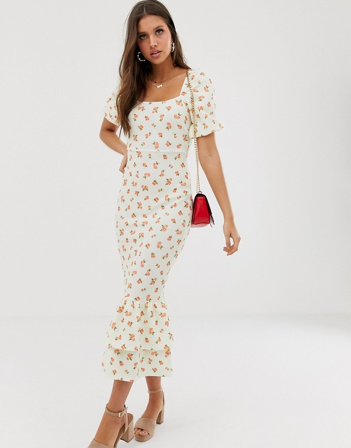 Asos Design Design tiered double frill hem maxi dress