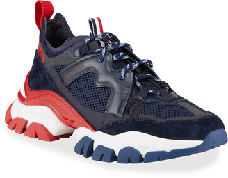 Moncler Men's Leave No Trace Tricolor Low-Top Sneakers