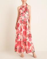 Eliza J Floral Halter-Neck Maxi Dress