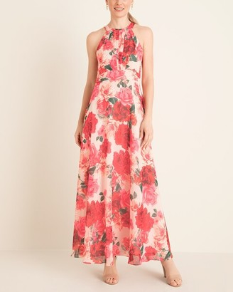 Eliza J Floral Halter-Neck Maxi Dress