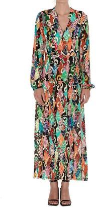 Rixo Autumn Side Slit Dress