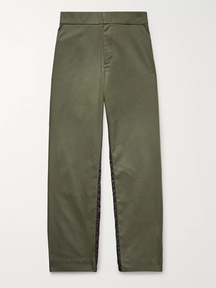 MONCLER GENIUS 5 Moncler Craig Green Tapered Gabardine and Nylon Trousers - Men - Green