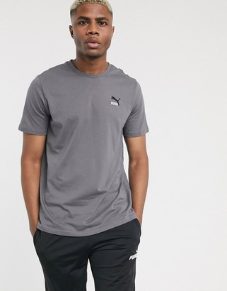 Puma Classics embroidered t-shirt in grey