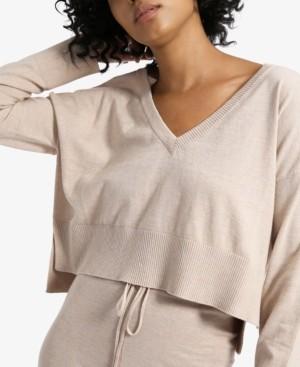 Sanctuary Essential Knit V-Neck Crop Sweater