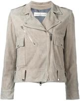 Golden Goose Deluxe Brand classic biker jacket - women - Leather/Cupro/Viscose - S