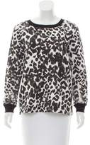 Sandro Printed Pullover Sweatshirt