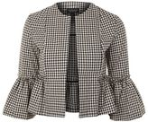 Topshop Gingham crop frill jacket