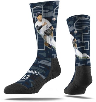 Men's Strideline Manny Machado Navy San Diego Padres Full Sublimated Player Crew Socks
