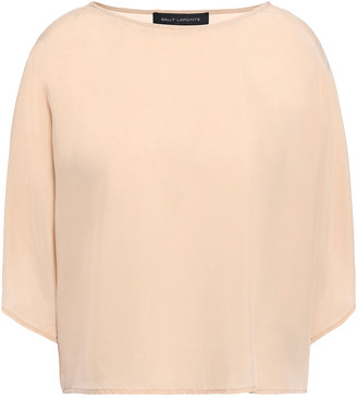 Sally LaPointe Draped Woven Blouse