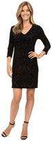 Karen Kane Velvet Burnout Sheath Dress