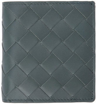 Bottega Veneta Grey Intecciato Small Bifold Wallet