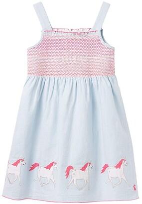 Joules Kids Sundial (Toddler/Little Kids) (Blue Unicorns) Girl's Clothing