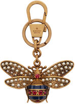 Gucci Multicolor Jewelled Bee Keychain