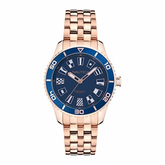 Nautica Women's Quartz Stainless Steel Strap Rose Gold 18 Casual Watch (Model: NAPPBS037)